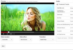 How to upload photos to Youtube