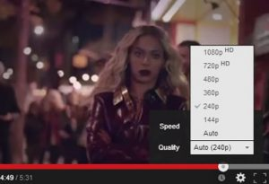 How to change youtube video quality