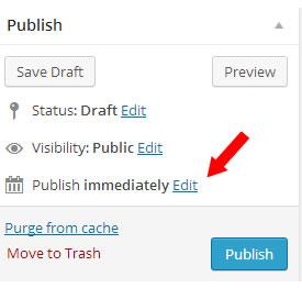schedule a wordpress post - step 1